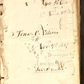 Title page from John C. Wilson diary, IU student in 1857-58