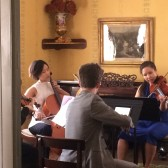 IU Students performing in museum parlor