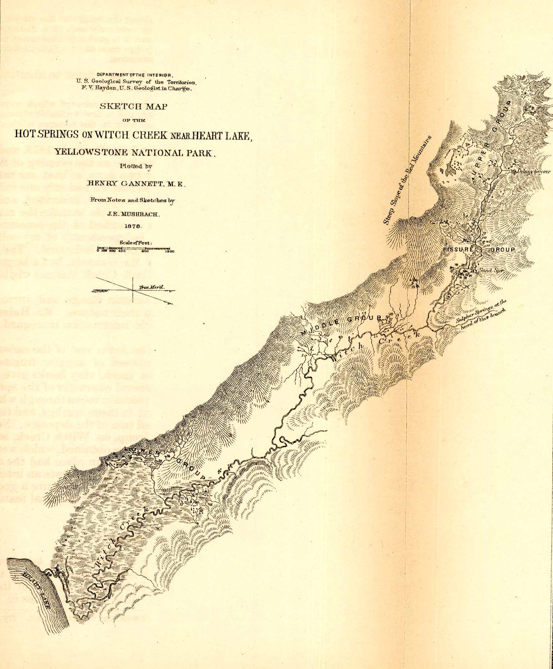 Map of Witch Creek with information about the area